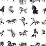 Horses seamless background Stock Photo