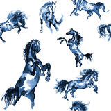 Horses seamless background Royalty Free Stock Photography
