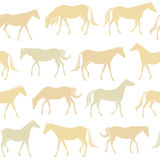 Horses seamless pattern Royalty Free Stock Photo