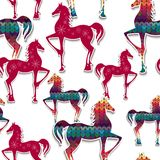 Horses seamless pattern. Royalty Free Stock Photography