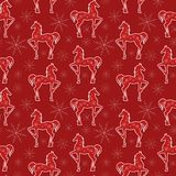 Horses seamless pattern. Great choice for wrapping paper pattern Stock Photography