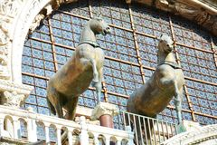 Horses of St. Mark's Cathedral Stock Photography