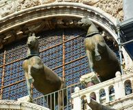 The horses of St. Mark's Cathedral Stock Photography