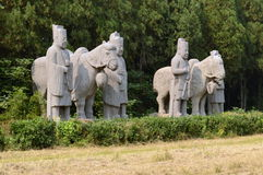 Horses & Stable Boys Statues, Song Dynasty Tombs Stock Photo