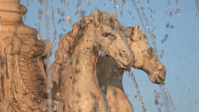 Horses statue fountain in Spain Stock Photography
