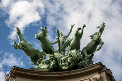 Horses statue in Paris Royalty Free Stock Photo