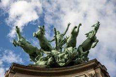 Horses statue in Paris Royalty Free Stock Photo