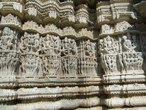 Horses of the sun god. Sudra's sacred chariot, Ranakapur, India Royalty Free Stock Photography