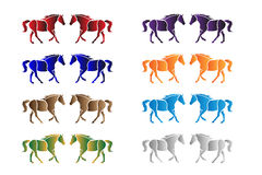 Horses Vector. Horses isolated in various colors Royalty Free Stock Photo