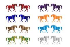 Horses Vector Royalty Free Stock Photo