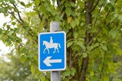 Horses this way sign Royalty Free Stock Photos