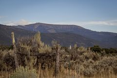 Horseshoe гора от города весны Стоковое фото RF