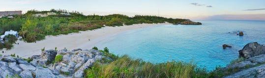 Horseshoe пляж залива в Бермудских Островах Стоковое Фото