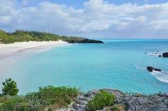 Horseshoe пляж залива в Бермудских Островах Стоковые Фотографии RF