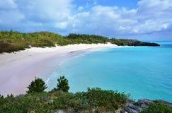 Horseshoe пляж залива в Бермудских Островах Стоковые Фото