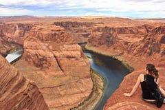 Horseshoe река Аризоны загиба Стоковые Изображения RF