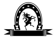 horseshoe удачливейший символ Стоковые Фотографии RF