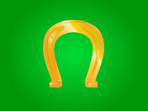 Horseshoe. Golden shiny horseshoe. Eps file included Royalty Free Stock Photo