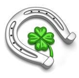 Horseshoe And Clover Royalty Free Stock Photos