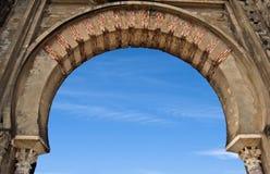 Horseshoe arch. A horseshoe arch, Moorish architecture Stock Photography