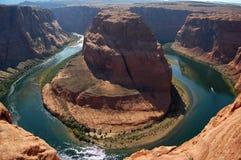Horseshoe band Arizona on Colorado river, USA stock images