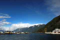 Horseshoe bay. In winter with blue sky Royalty Free Stock Photos