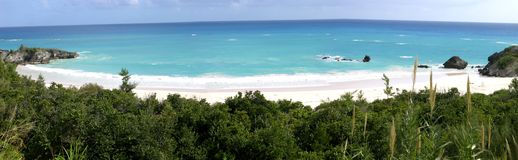 Horseshoe Bay. Panoramic view of Horseshoe Bay, Bermuda stock photo