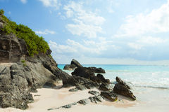 Horseshoe Bay Beach in Bermuda Royalty Free Stock Images