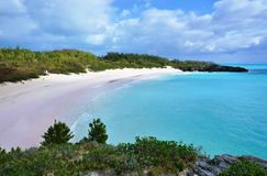Horseshoe Bay beach in Bermuda Stock Photos