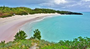 Horseshoe Bay beach in Bermuda. Horseshoe Bay beach in Southampton, Bermuda Stock Photo