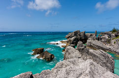 Horseshoe Bay in Bermuda Stock Images