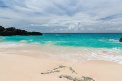 Horseshoe Bay Bermuda. Horseshoe Bay is perhaps the most famous beach in Bermuda. A very popular tourist spot, it lies on the main island`s south Atlantic Ocean Stock Photos