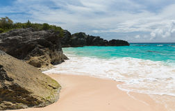 Horseshoe Bay Bermuda. Horseshoe Bay is perhaps the most famous beach in Bermuda. A very popular tourist spot, it lies on the main island`s south Atlantic Ocean Stock Photography