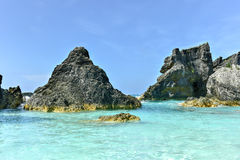 Horseshoe Bay Cove - Bermuda Stock Photography