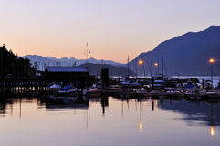 Horseshoe bay, ferry station in Vancouver Royalty Free Stock Image
