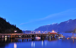 Horseshoe Bay night scene Royalty Free Stock Photos