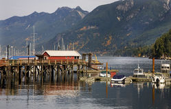 Horseshoe Bay Pier Reflections Vancouver BC Canada Royalty Free Stock Photos
