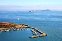 Horseshoe Bay, San Francisco, Usa. A Panoramic view of San Francisco bay, USA Royalty Free Stock Photography