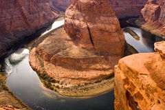 Horseshoe Bend Colorado River Gorge Utah Royalty Free Stock Photography