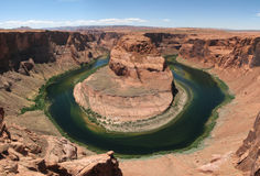 Horseshoe bend. Wide-angle landscape view of horseshoe bend on the Colorado River, Arizona Stock Photos