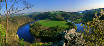 Horseshoe bend. Of the river Vltava in the Czech republic Stock Images