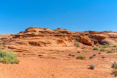 Horseshoe Bend is area landscape near of the Colorado River royalty free stock photo