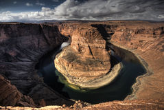 Horseshoe Bend Arizona. Nice high dynamic image of the horseshoe bend Royalty Free Stock Photo