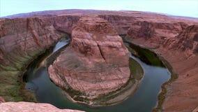 Horseshoe bend in Arizona in fall stock footage