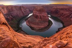 Horseshoe Bend, Arizona, perspective scenery in autumn Stock Photography