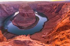 Horseshoe Bend, Arizona, perspective scenery in autumn Stock Photo