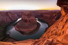 Horseshoe Bend, Arizona, perspective scenery in autumn Stock Photos