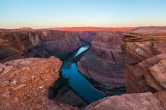 Horseshoe Bend, Arizona, perspective scenery in autumn Stock Image