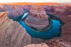 Horseshoe Bend, Arizona, perspective scenery in autumn Royalty Free Stock Photo