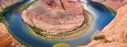 Horseshoe Bend in Arizona State, USA Stock Photos